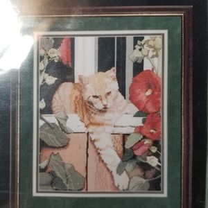 Kit Cross Stitch Orange Cat
